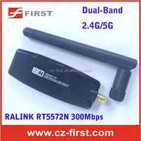 300mbps Wireless Dual-Band 2.4G/5G USB Wifi Adapter/Dongle network card