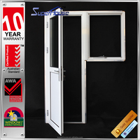 AS2047 aluminium metal door/aluminum double glass part buckle casement/french/aluminum swing open door