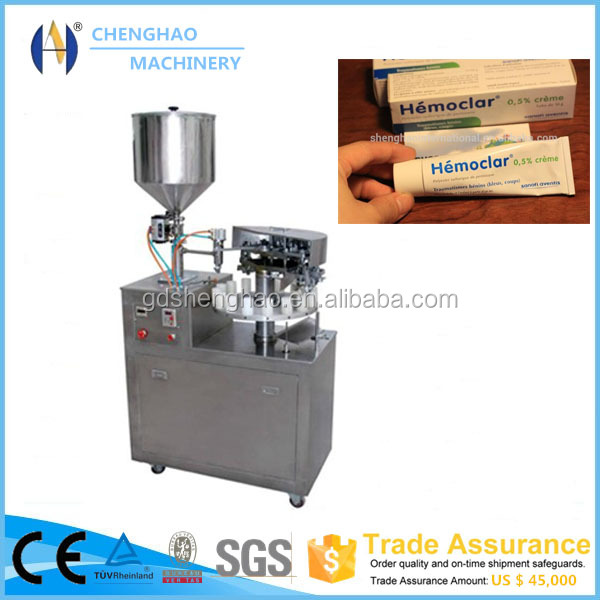 aluminum squeeze tubes filling and tube tail sealing machine