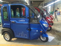 electric passenger tricycles for sale import/electric assisted rickshaw/mini closed 3 wheel vehicle for adult/handicaped