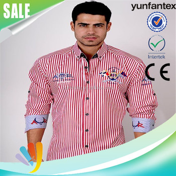 2016 latest embroidered shirt design for men