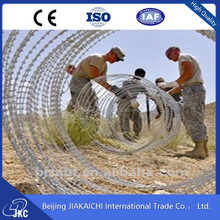 military concertina wire / razor wire installation