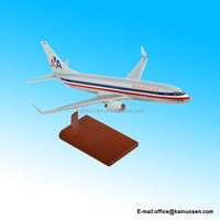 Handcrafted Resin Model Airplane B737-800 American