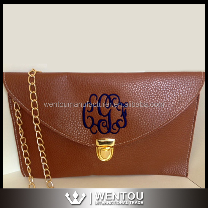 Wholesale Monogrammed Scalloped Cross Body Clutch