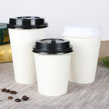 Custom logo printed disposable single wall paper coffee cup(custom printing MOQ 5000pcs)