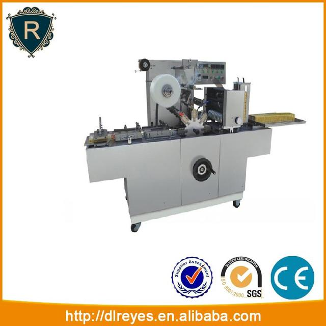 Cellophane overwrapping machine with gold tear tape / automatic wrapping machine