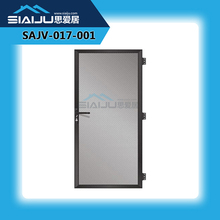 SIAJ Furniture metal garden grid door High quality Fire Rated Glazed Metal Exit Door