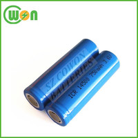 3.7v icr 14500 li-ion rechargeable battery ICR14500 750mAh rechargeable