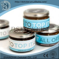 Custom design laminated waterproof paper sticker label for glass jar
