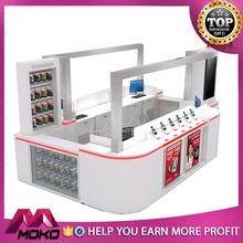 Hot sell shopping mall cell phone accessories kiosks for mobile phone store design