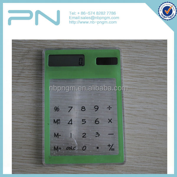 8 digit solar power electronic calculator touch screen pocket calculator