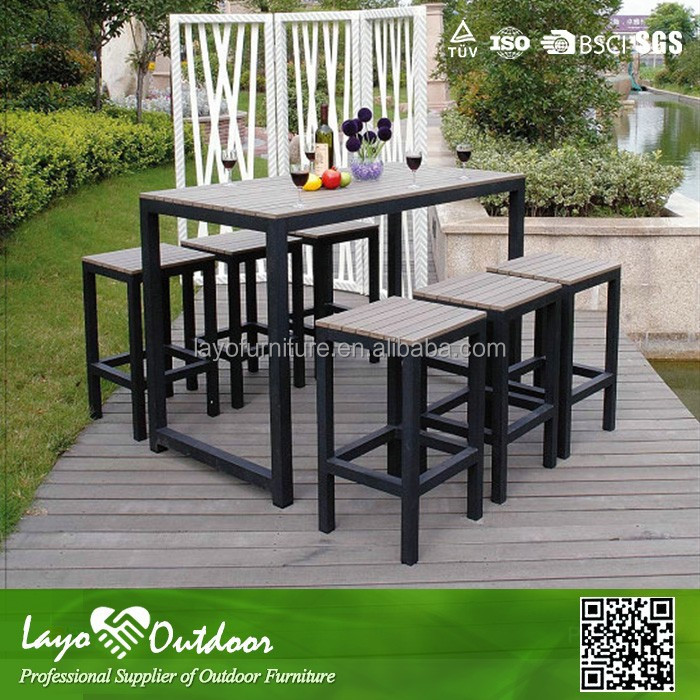 broyhill outdoor furniture wilson and fisher patio furniture Aluminium PS Wood Table Sets outdoor furniture Layo-P11007