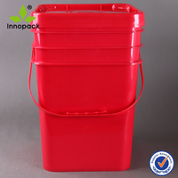 printing round and square 20 liter plastic paint pail with lid
