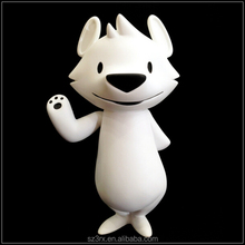 customizable 3 inch 6 inch 1/12 scale white wolf standing figure plastic kids toys china factory