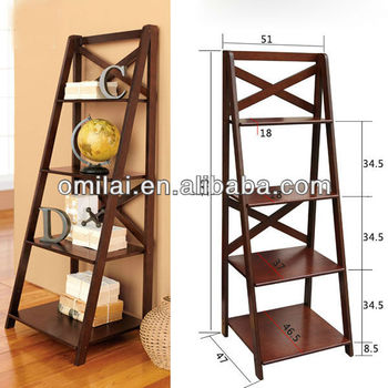 walnut simple wooden furniture MDF bookshelf design