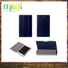 "8"" Tablet Smart Cover 3 Fold Leather Flip Cover for Sony Xperia Z3 Tablet Compact"