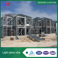 Flat Roof Light Gauge Steel Prefab Town Houses