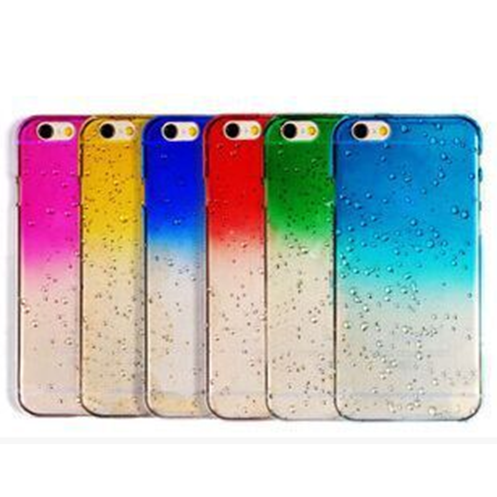 Ultra Thin 3D Raindrop back cover for iphone 4s 5s se 5c 6s 6splus 6plus Hard case for apple iphone 6