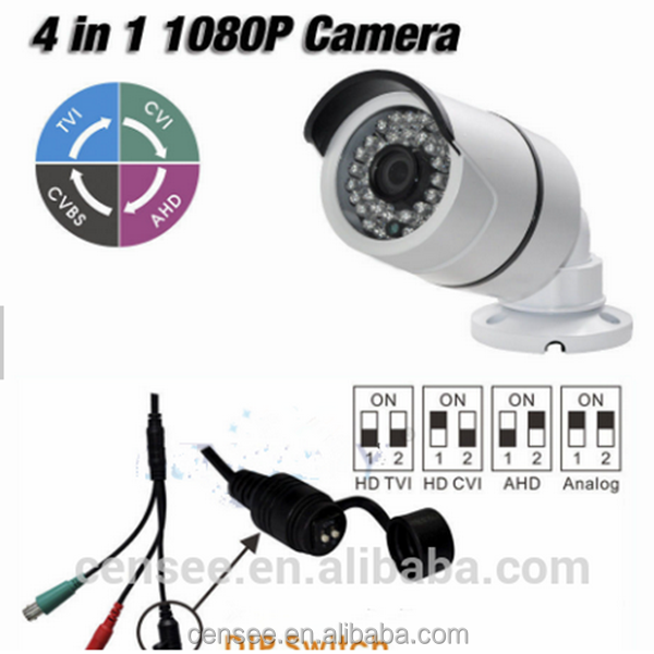 36Pcs IR Leds Night Vision AHD TVI CVI Analog 1080P 4 IN 1 Mini IR Bullet Camera 2MP PXI 5220+Nextchip 2470H Outdoor IP66