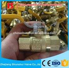 SS2060 206 Brass Full Port Ball Valve Sanrong Top Quality Brass Ball Valve, Refrigeration Globe Valve