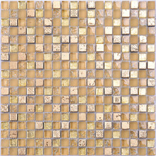 Wall decoration stickers mirror mosaic strip yellow exterior wall tiles