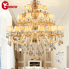 Mid Century Modern Pendant Light Luxury Crystal Chandelier Large Gold Empire Decoration Lighting
