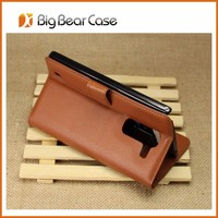 New design leather flip mobile phone case for lg g pro 2 d350