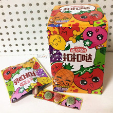 Snack assorted fruit flavors mixed shaped sugar coated soft candy gummy jelly