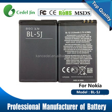 high quality 100% 1320mah BL-5J cell phone battery pack for nokia C3/X1/X6