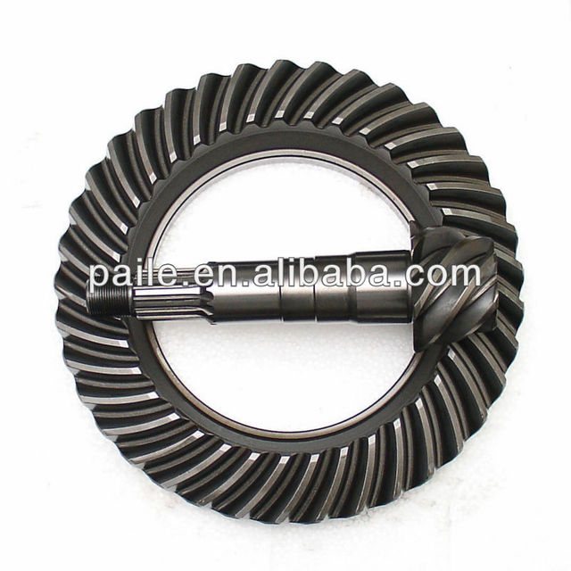 Crown wheel and pinion gear set for EATON Coaster tractor truck bus car 10/37 T4370F-T445 T4370F-T488