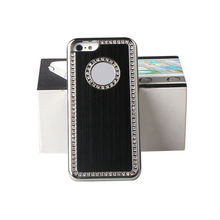 black diamond metal case back cover for new iphone5/ iphone5C