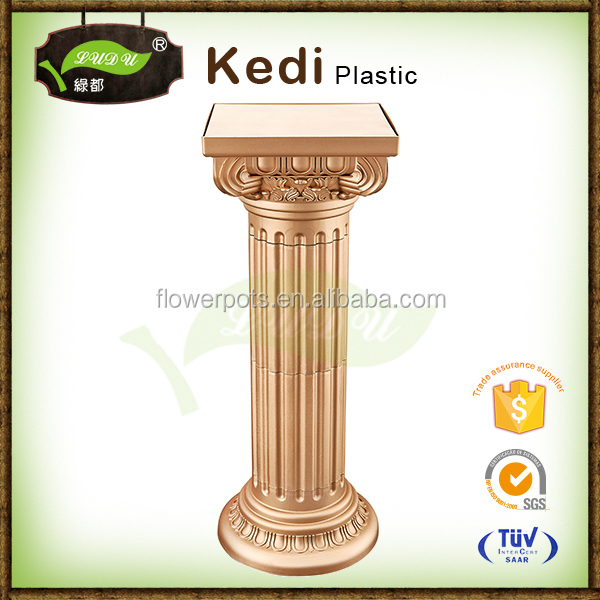 high quality plastci decorative roman columns flower pots