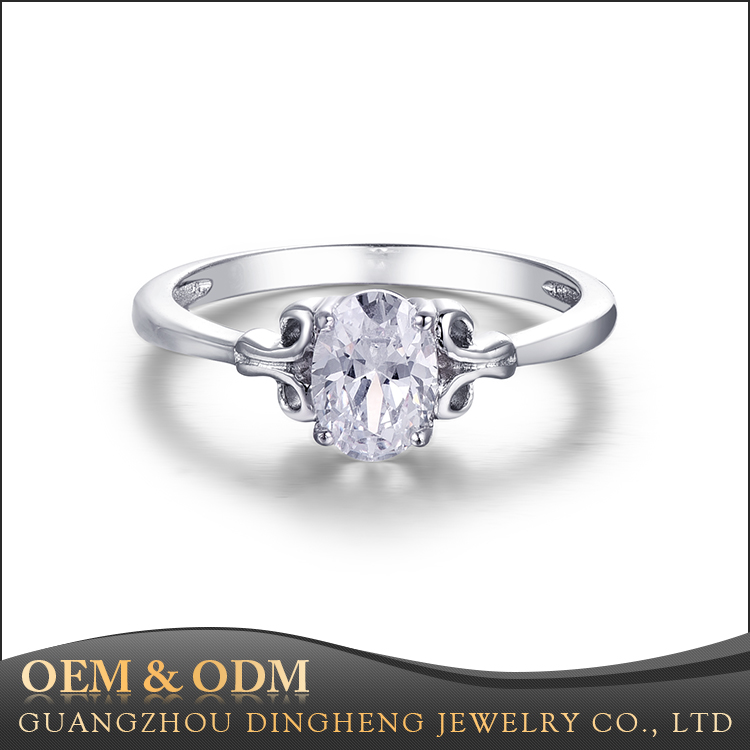 Wholesale Price Promise 925 Italian Silver Pave Setting Diamond Ring , Latest Wedding Ring Designs