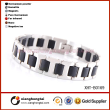 Fashion stainless steel sports bracelet rubber band bracelet kit