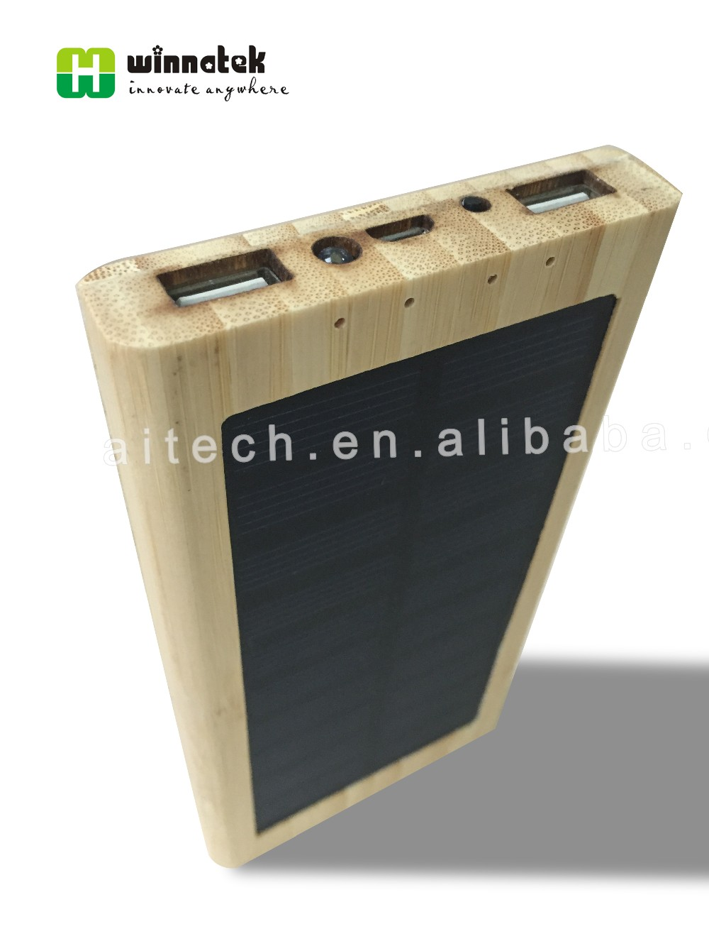 Alibaba Promotion Eco-friendly Wood Portable Power Bank 10000mah, Nature Wood Travel Polymer Solar Power Bank