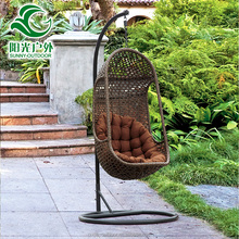 Unique egg shape outdoor single seat hanging garden swing
