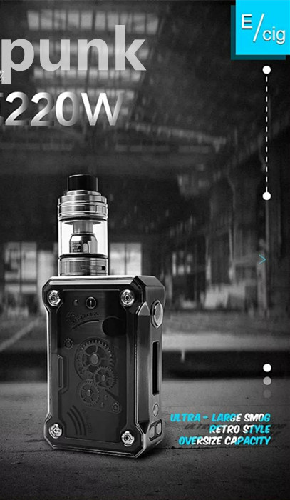 2018 Vape new fashion weathervane Retro Steam punk style teslacigs punk 220w