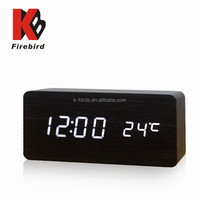 TOP selling white led digital usb real time clock for office decoration