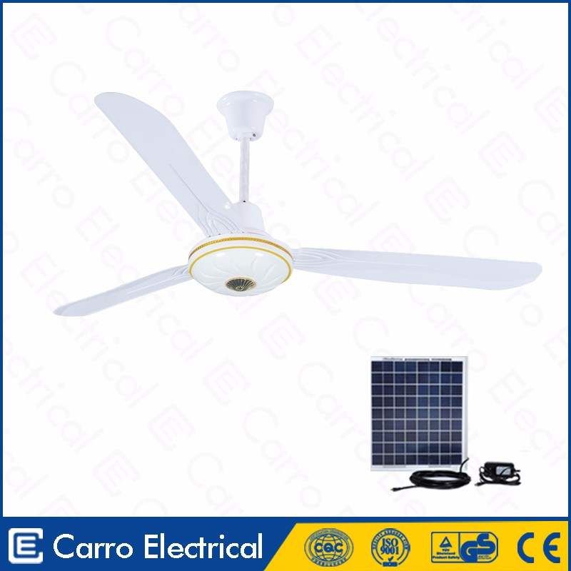 Hot sell 12v 36w 56inch 3 metal blades AC DC dc decorative ceiling fan