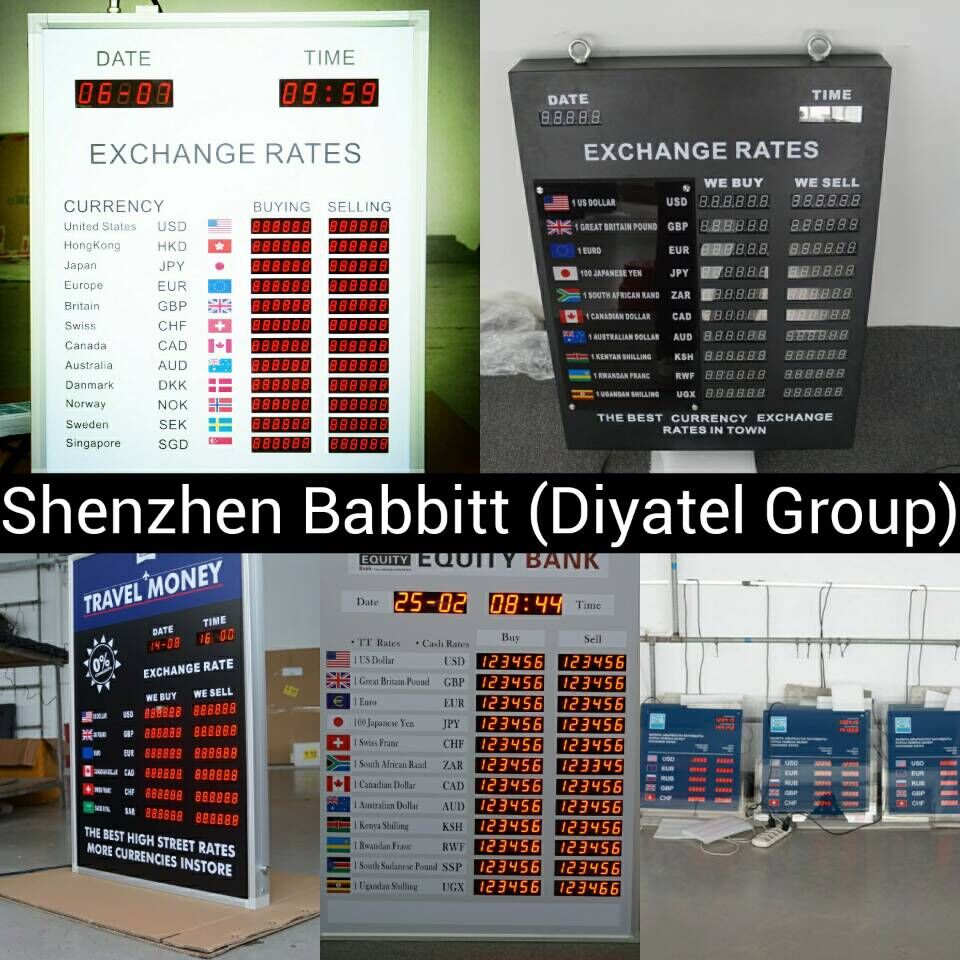 Wholesale price Indoor 2 columns 12 rows led foreign exchange signage/100% Response Rate/Babbitt Diyatel, Model No.BTR-0502(N)