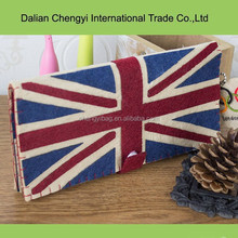 fashionable classic Union Jack long pattern wallet purse
