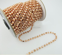 New arrival gold Rhinestone + pearl cup chain Chain In Roll For Dress,Shoes