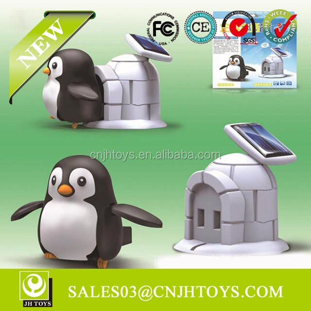 2119 New Product Lovely DIY Solar Penguin & Hourse Cute Sunlight Solar Toys For Kids