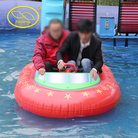 Fwulong animal style Removable inflatable ring easy and fun battery operate bumper boat for swimming pool