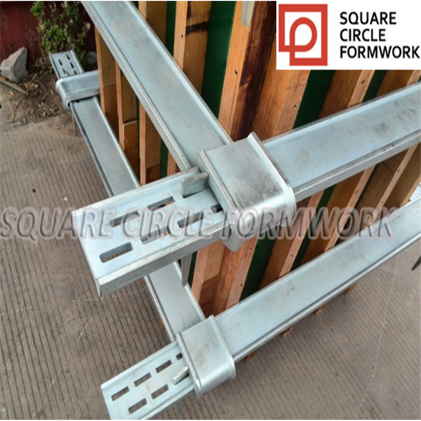 Adjustable concrete column clamp for square tube formwork