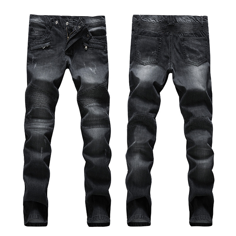 True Designer Religious Jeans Hommes Ripped Black Skinny Jeans Men Distressed Elastic Biker Jeans Homme Denim Jumpsuit Men Pants