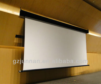 wall mounted motorized projection screen / electric projection screen
