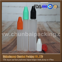 Unicorn Bottle perfume bottle with childproof cap with long thin tip 10ml/15ml/30ml plastic bottle perfume bottle