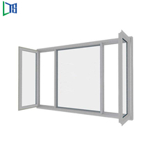 Foshan Safe durable vertical sliding PVC casement aluminum window and door
