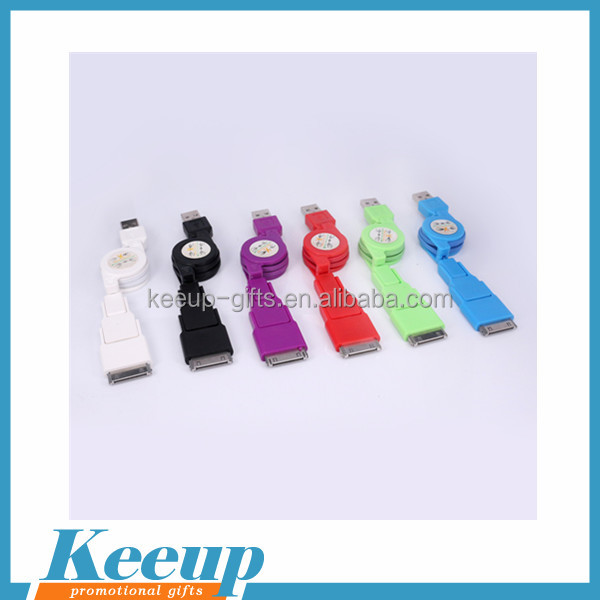 useful promotion gift colourful micro usb charging cable with customized epoxy dropping logo